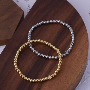 Tory Burch Beads Elastic Rope Couple Bracelet